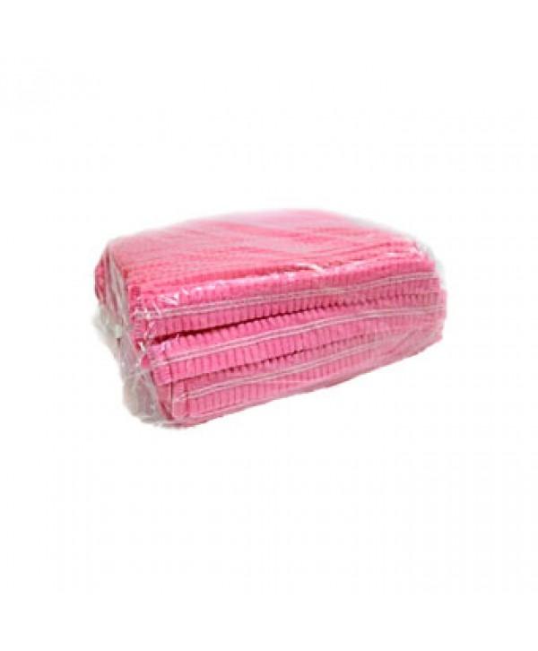 """Шапочка """"гармошка"""", рожева, 100 шт."""