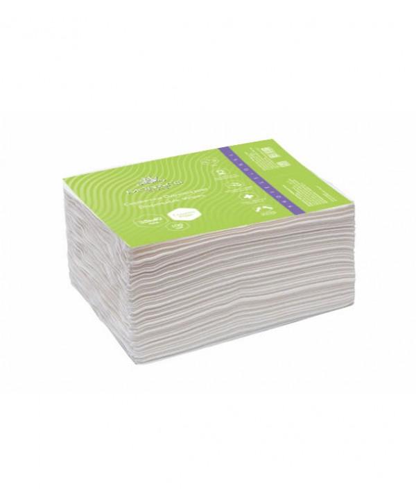 Одноразові серветки 20х20 см (гладкі), 100 шт.